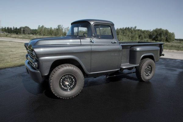 Custom 1958 Apache with a Duramax V8 and 2500 HD chassis