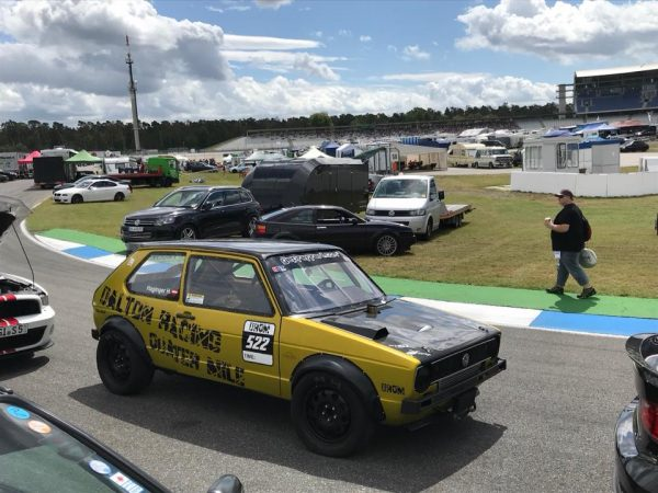 Dalton Racing Golf Mk1 with a turbo 1.8 L 20v inline-four