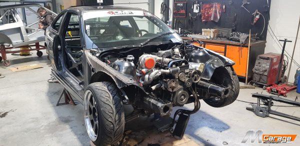 Lukasz Wawryka BMW E46 with a turbo 2JZ inline-six