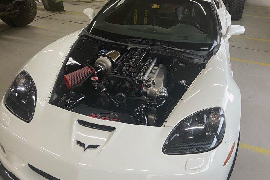 Corvette Z06 with a turbo 2JZ inline-six