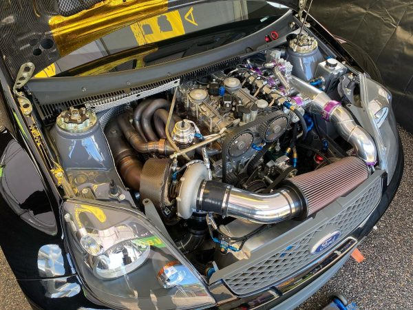 Ford Fiesta with a Turbo Volvo Inline-Five