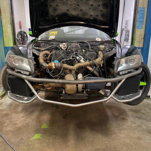 Mazda RX-8 with a Turbo 1UZ V8