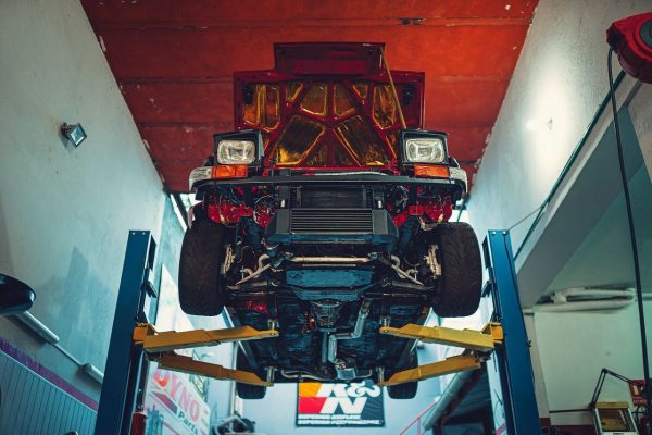 underside of Fernando Montero's Toyota AE86 with a supercharged 3S-GE BEAMS inline-four
