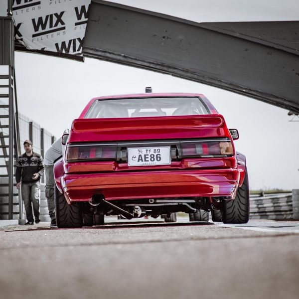 Fernando Montero's Toyota AE86 with a supercharged 3S-GE BEAMS inline-four