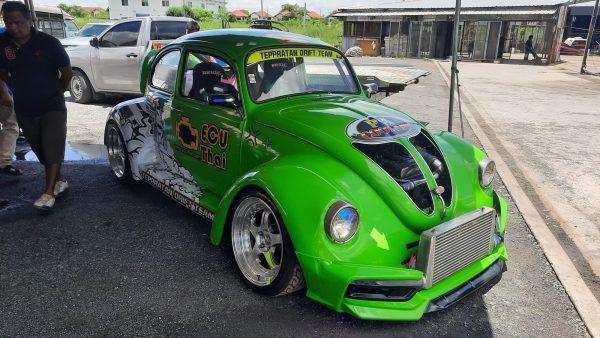 VW Beetle with a turbo 2JZ inline-six