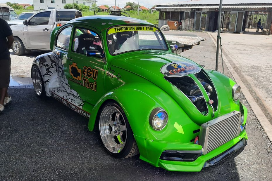 VW Beetle with a turbo 2JZ inline-six