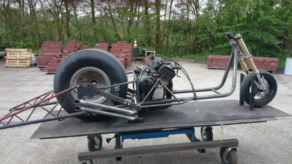 Vespa Dragster with a Yamaha R1 Motor