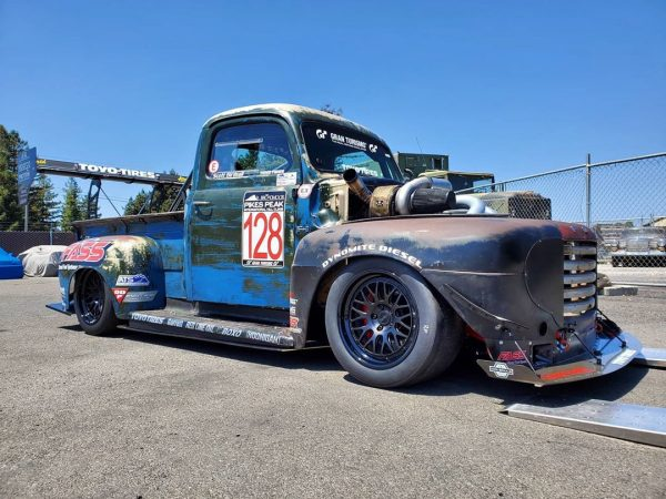 1949 Ford F-1 with a compound turbo 6.7 L Cummins inline-six