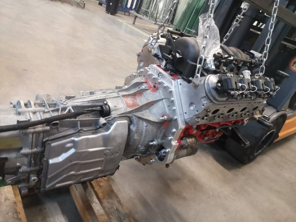 LS1 V8 and BMW M4 seven-speed dual-clutch transmission going into a BMW E36