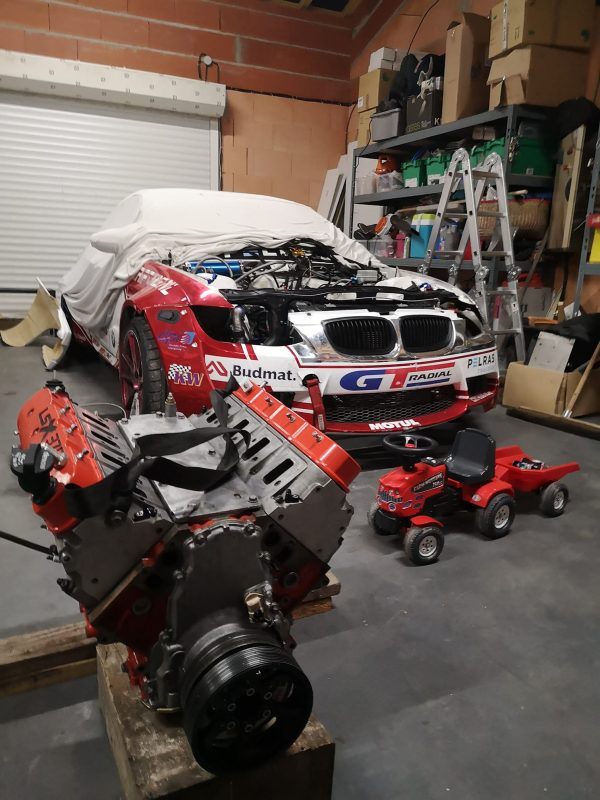 BMW E93 with a supercharged LSX376 V8