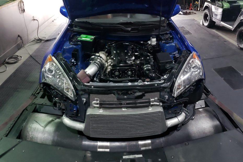 Hyundai Genesis with a Toyota 2JZ-GTE inline-six