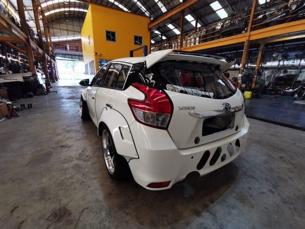Toyota Yaris with a turbo 2JZ inline-six