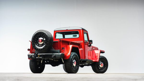 1955 Willys truck with a supercharged V6 and Wrangler chassis