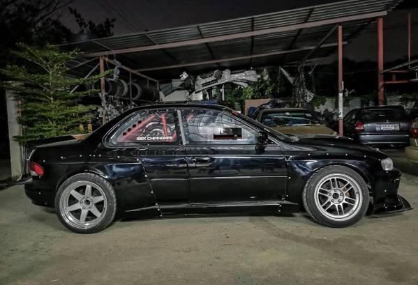 Subaru Impreza with a 2JZ-GTE inline-six