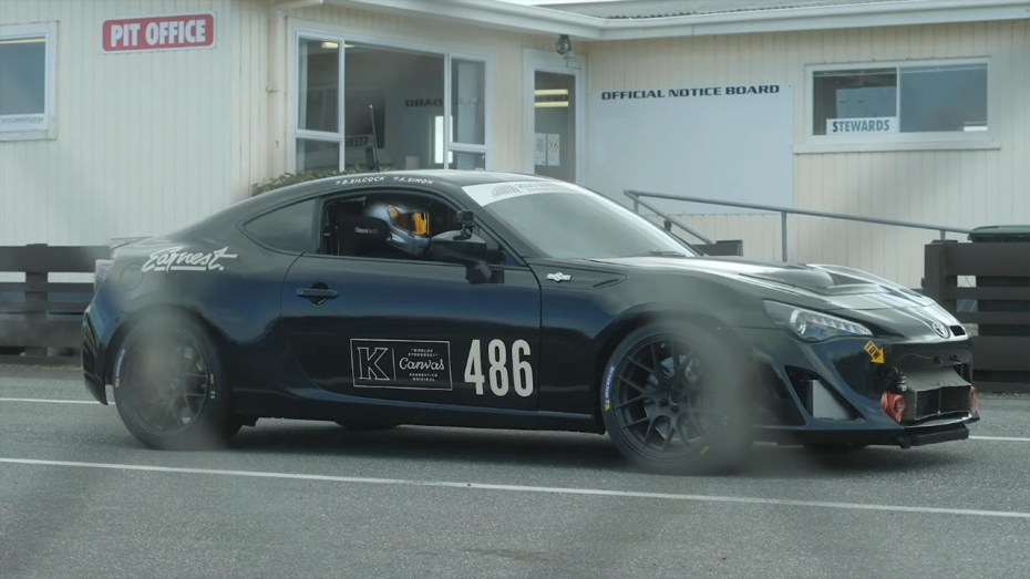 Toyota GT86 with a turbo SR20VE inline-four