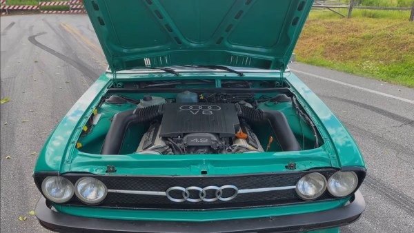 1972 Audi 100 Coupe S with a 4.2 L V8