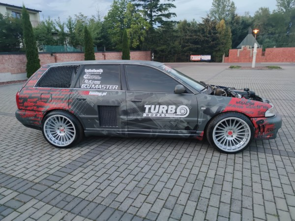 Audi S4 wagon with two turbocharged V6 engines