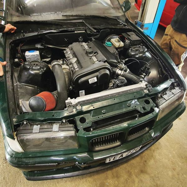 BMW E36 with a turbo Volvo Volvo B5244S4 inline-five