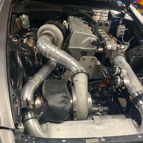 Honda S2000 with a turbo K20-K24 inline-four