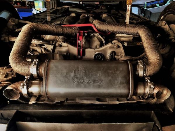 exhaust for a Nissan 350Z with a LS3 V8