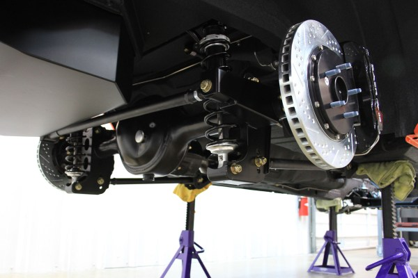 Detroit Speed QUADRALink rear suspension and 9-inch rear end on a 1970 Boss 302 Mustang