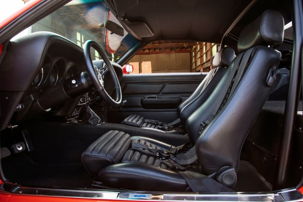 interior of a 1970 Boss 302 Mustang with an Accufab Modular V8