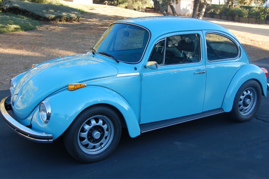 1973 Super Beetle with a turbo Subaru EJ25 flat-four