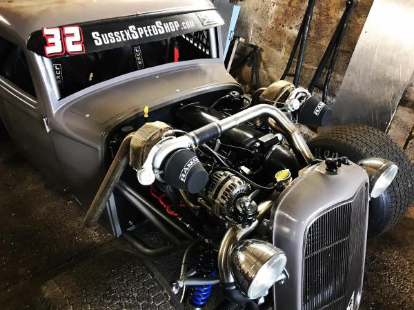 Custom 1932 Ford with a twin-turbo 5.3 L V8