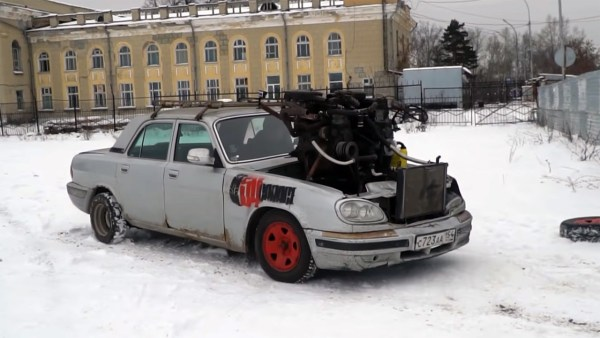 GAZ Volga with three Lada inline-four motors