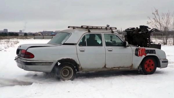 GAZ Volga with three Lada inline-four motors