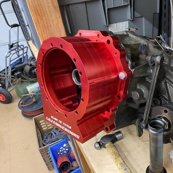 LOJ Conversions Nissan TX15B Transfer Case Adapter to 6L80E transmission