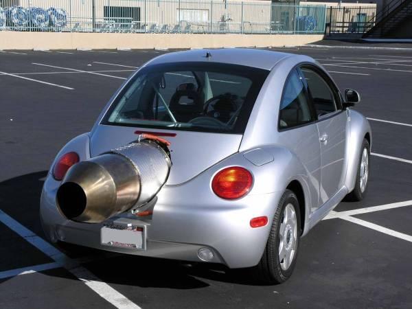 Volkswagen Beetle with a GE T58-8F turboshaft engine