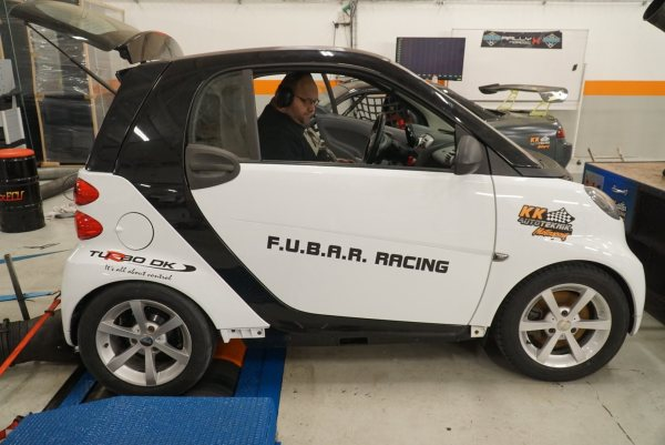 Smart ForTwo with a turbo 4A-GE inline-four