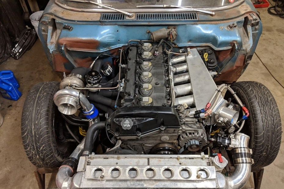 1962 Studebaker Lark with a turbo Vortec 4200 inline-six