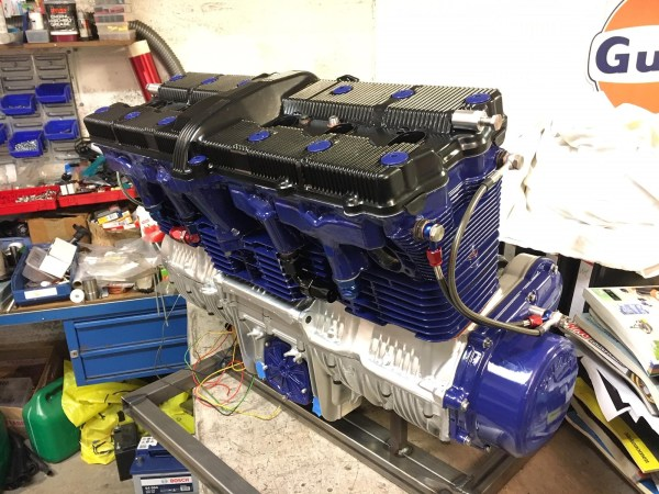 Bjørnar Eskedal's custom 1700 cc inline-six made using Suzuki motorcycle parts