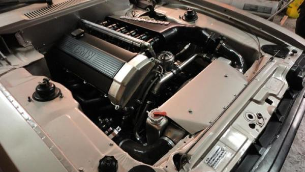 Ford Capri with a turbo BMW M50 inline-six