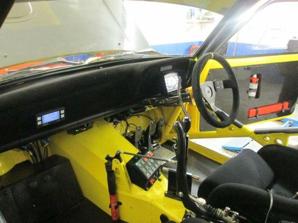 Ford Escort Mk2 race car with a 2.5 L Millington inline-four