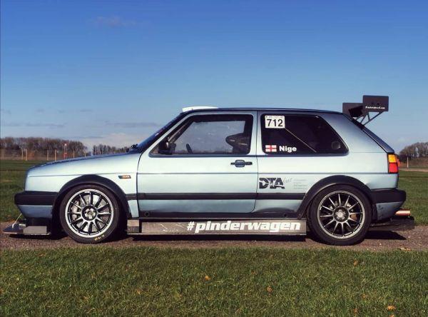 Pinderwagen Golf Mk2 with a turbo 16v inline-four