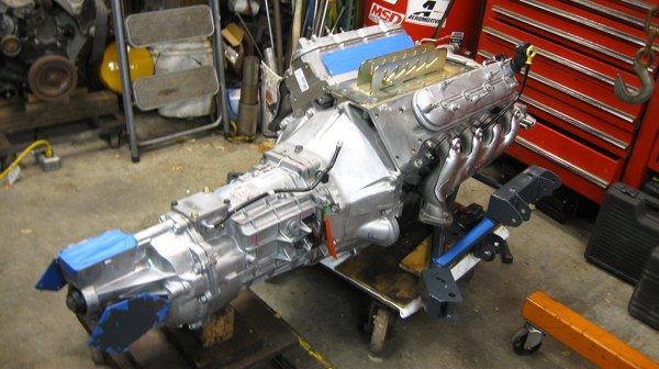LS376/480 V8 with a T56 Magnum six-speed manual transmission