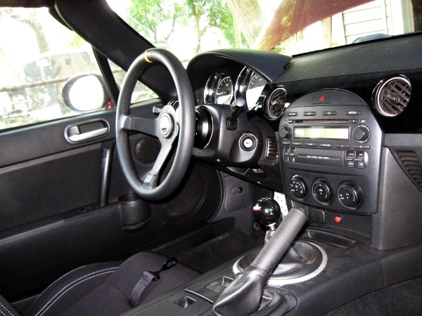 2006 Miata interior with Sparco seats and steering wheel