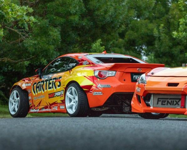 Team Jenkins Motorsport twin Toyota GT86s with 2JZ-GTE inline-six