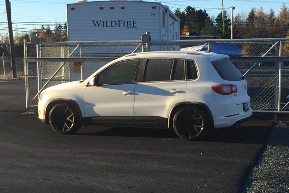 Volkswagen Tiguan with a supercharged 3.6 L VR6