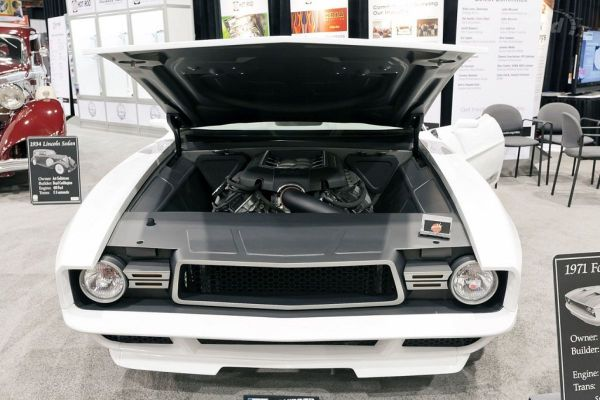 1971 Mustang Mach 1 built by Goolsby Customs with a Coyote V8