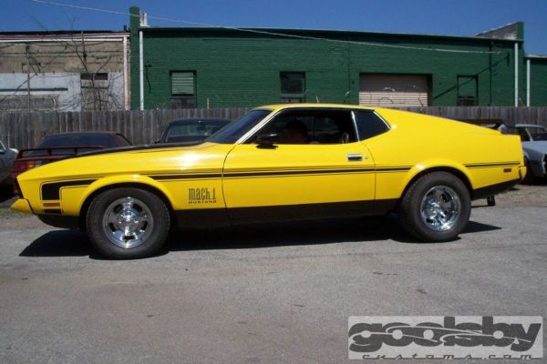 1971 Mustang Mach 1 before being built by Goolsby Customs