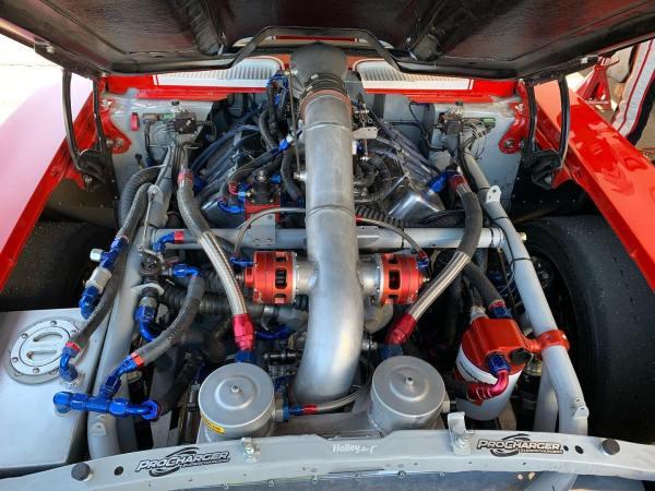 Big Red Camaro at 2021 Shift Sector half-mile