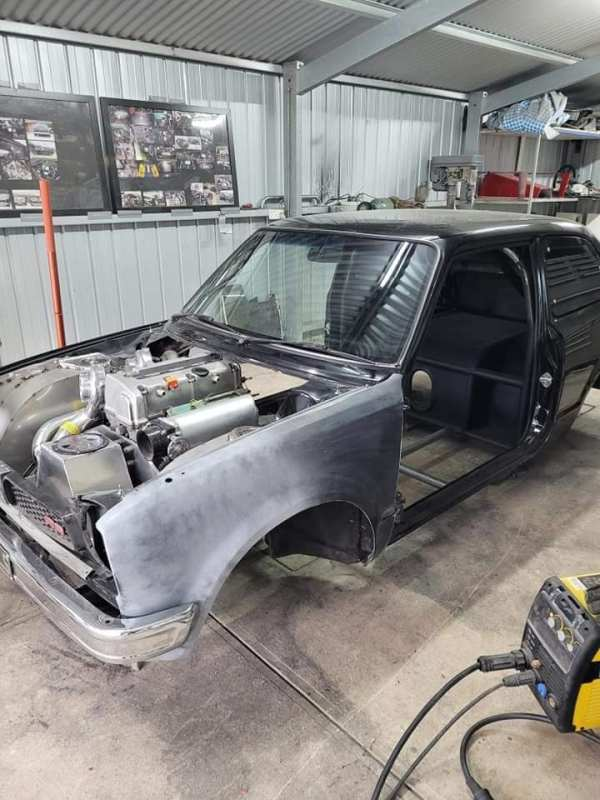 Honda Civic with a twin-charged K20 inline-four