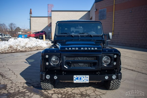 Land Rover Defender 110 with a supercharged LSA V8