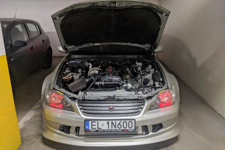 Lexus IS200 with a 2JZ-GTE inline-six