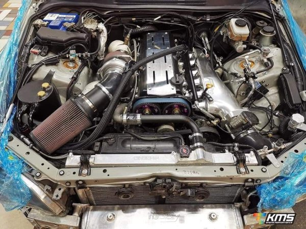 Lexus IS200 with a 2JZ-GTE inline-six