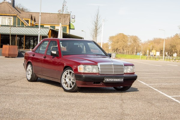 Mercedes 190E with a turbo M111 inline-four